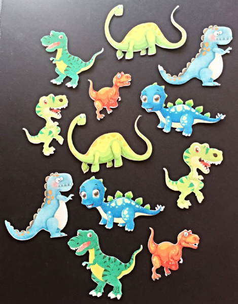 Dinosaurs - cupcake toppers
